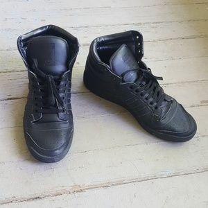 {adidas} Black Adidas Top Ten Hi  sneakers
